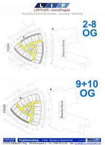 Grundrisse 2-8.OG und 9+10.OG 4*-Tower-Park-Hotel