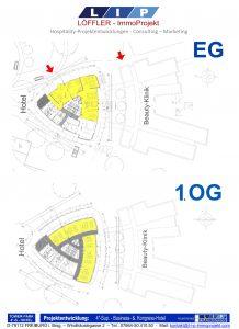 Grundrisse EG + 1.OG - 4-Sterne-Tower-Park-Hotel