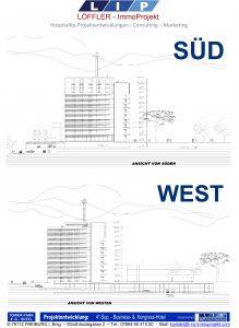 Süd und West Ansicht 4*-Tower-Park-Hotel