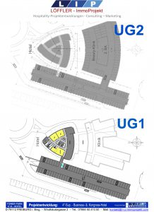 Grundrisse 1.UG + 2.UG - 4- Tower-Park-Hotel